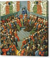 French Court, 1458 Canvas Print