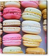 French Delicious Dessert Macaroons Canvas Print