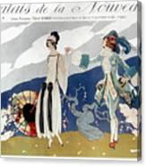 French Fashion Ad, 1923 Canvas Print