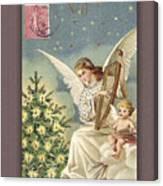 French Noel Postcard Canvas Print