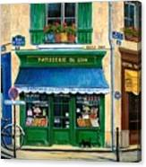 French Pastry Shop Canvas Print