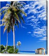 French Polynesia, Beach Canvas Print
