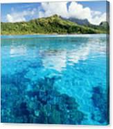 French Polynesia, View Canvas Print