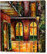 French Quarter Alley Canvas Print