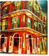 French Quarter Corner Canvas Print