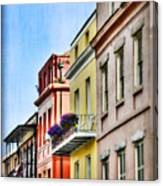 French Quarter In Summer Canvas Print
