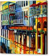 French Quarter Sunrise Canvas Print