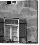 French Quarter Window Canvas Print