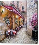 French Restaurant Canvas Print