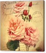 French Rose Bouquet Canvas Print