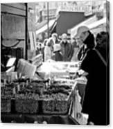 French Street Market Canvas Print