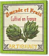 French Vegetable Sign 2 Canvas Print