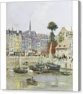 French View Of Honfleur Canvas Print