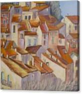French Villlage Painting Canvas Print