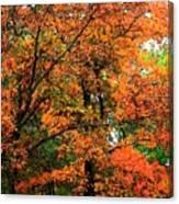 Fresco Autumn Diptych Left Canvas Print