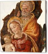 Fresco Holy Family Canvas Print