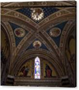 Frescoes Inside The Church At Brolio Canvas Print