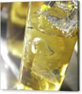 Fresh Drink With Lemon Canvas Print