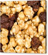 Fresh Gourmet Popcorn In Filled Frame Layout  Canvas Print