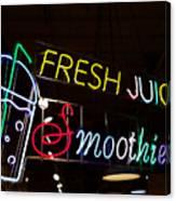 Fresh Juices Canvas Print