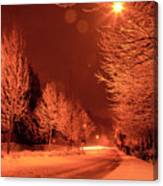 Fresh Morning Snow Canvas Print