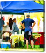 Fresh Organic Food At The Local Farmers Market Canvas Print