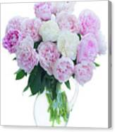 Vase Of Peonies Canvas Print