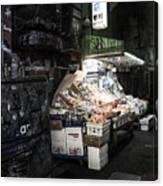 Fresh Produce In A Dark Alley Canvas Print