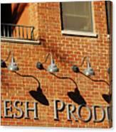 Fresh Produce Signage Canvas Print