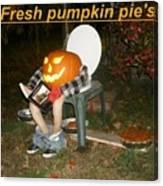 Fresh Pumpkin Pie's Canvas Print