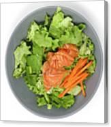 Fresh Seafood Salad With Smoked Salmon Canvas Print