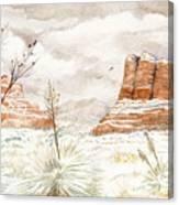 Fresh Snow On Bell Rock Canvas Print