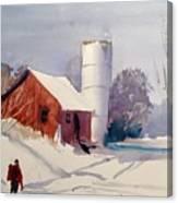 Fresh Snowfall Canvas Print