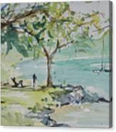 Fresh Spring On West Bay Canvas Print