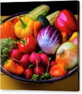 Fresh Vegetables In Lovely Basket Canvas Print