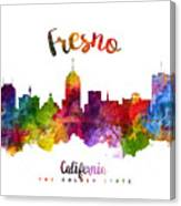 Fresno California Skyline 23 Canvas Print