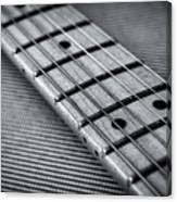 Fret Board In Black And White Canvas Print