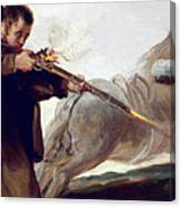Friar Pedro Shoots El Maragato As His Horse Runs Off Canvas Print