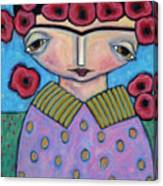 Frida In The Blooms Canvas Print
