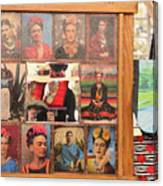 Frida Kahlo Display Picts Canvas Print