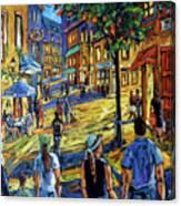 Friday Night Walk Prankearts Fine Arts Canvas Print