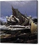Friedrich Caspar David The Sea Of Ice Canvas Print