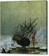 Friedrich Caspar David Wreck By The Sea Canvas Print