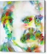 Friedrich Nietzsche - Watercolor Portrait.10 Canvas Print