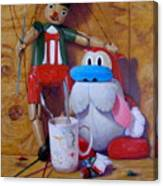Friends 2  -  Pinocchio And Stimpy   Canvas Print