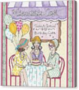 Friendship Cafe Canvas Print