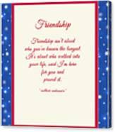 Friendship Poem Canvas Print