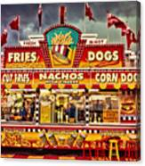 Fries Nachos Dogs Canvas Print