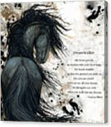 Friesian DreamWalker Horse Canvas Print
