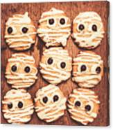 Frightened Mummy Baked Biscuits Canvas Print